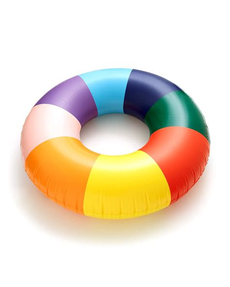 float on giant innertube rainbow by ban do float ban do