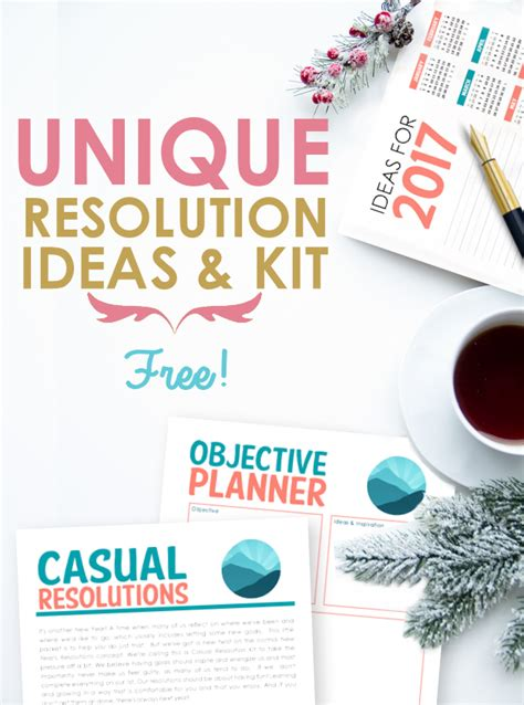 unique new years resolution ideas kit 2017 casual