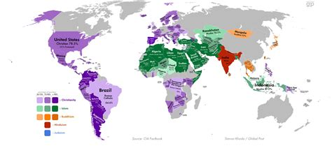 map these are the world s least religious countries the world history studies religions of the world sage