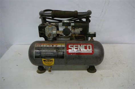 senco air compressor model pc1010 1 2 hp tank size 1 gal runs and pumps tools equipment