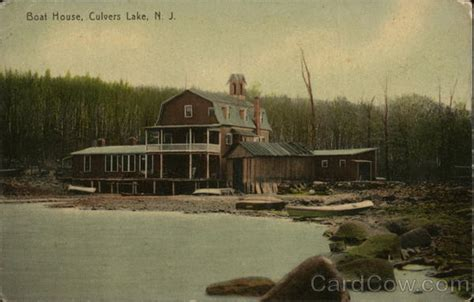 boat house jersey boat house culvers lake nj postcard