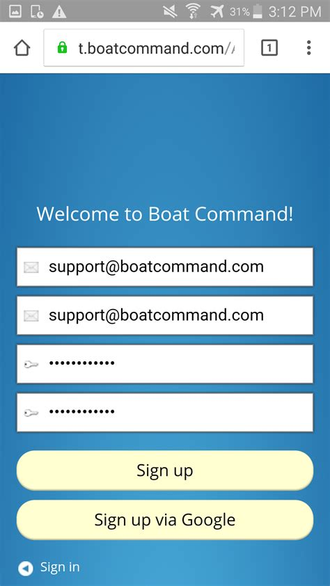 boat command android boat command