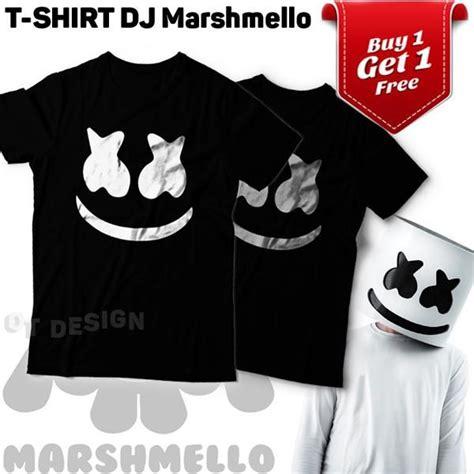 buy 1 get 1 kaos dj marshmello 1 hitam t shirt