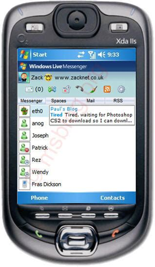 mobile msn msn messenger mobile
