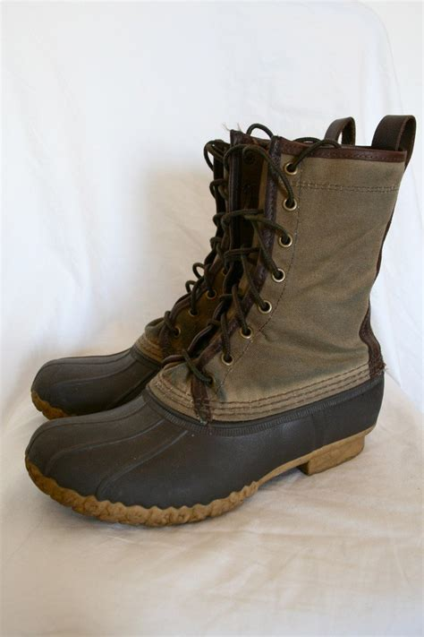 s bean boots s waxed canvas l l bean maine boot size 9