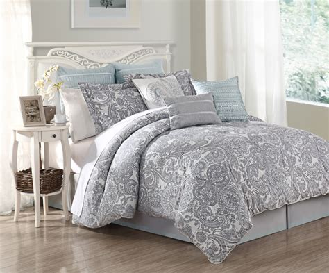 9 Piece King Luxe 100 Cotton Comforter Set Ebay