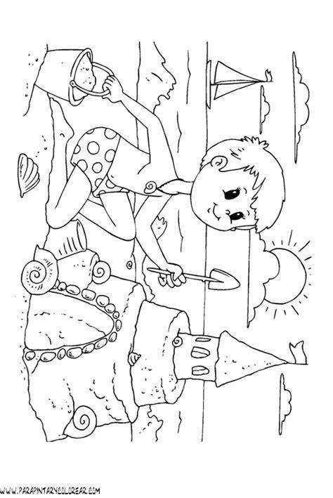 dibujos infantiles para colorear del verano dibujos de verano para colorear 043