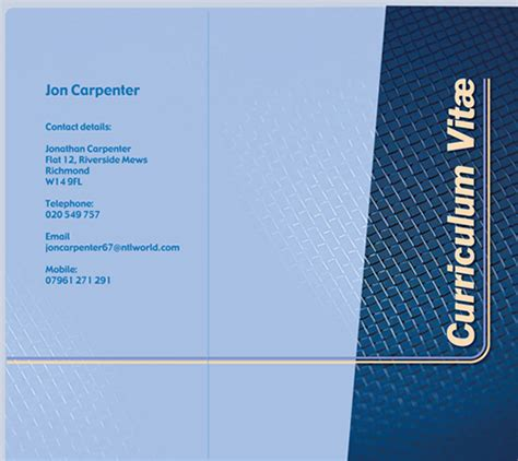 design cv cover page cv folder styles and designs cv presentation folders