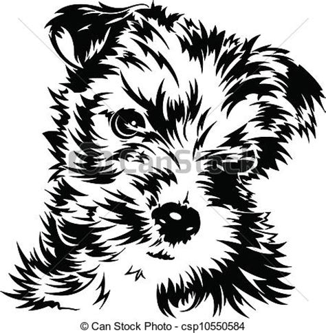 Small Bathroom Designs by Puppy Black And White Illustration Of A Dog Vector