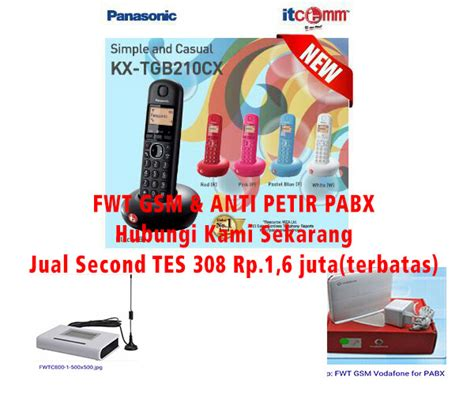 Promo Single Line Telephone Itcomm Panasonic Kx Ts505mx cctv pabx indonesia dealer cctv panasonic murah pabx