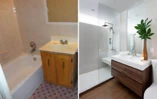 bathroom renos before and after