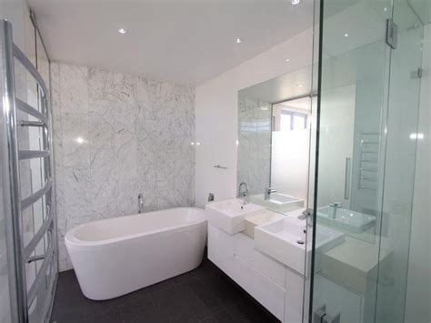 Modern Bathroom Feature Tiles Black Floor Tiles White Grey Marble Feature Wall Tiles