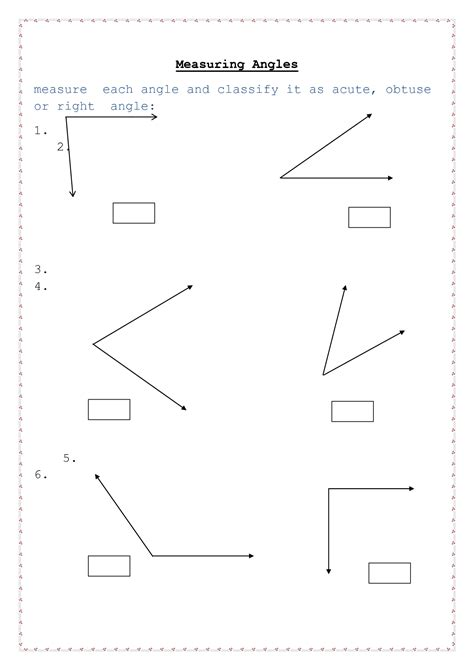 Complementary Angles Worksheet by 14 Best Images Of Degree Angle Worksheets Classifying