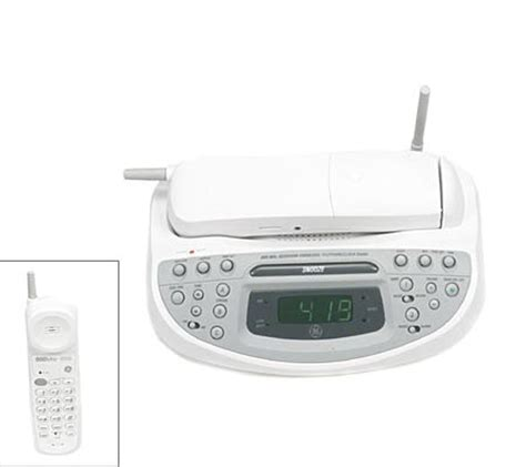 ge mhz cordless phone  dual alarm amfm clock qvccom