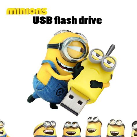 Usb Flashdrive Minion 4gb Pen Drive Minion Usb Flash Drive Minions 3 Model Pendrive