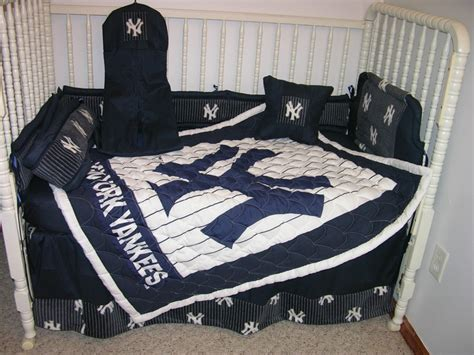 Yankee Crib Bedding Crib Nursery Bedding Set Made W New York Yankees Ny