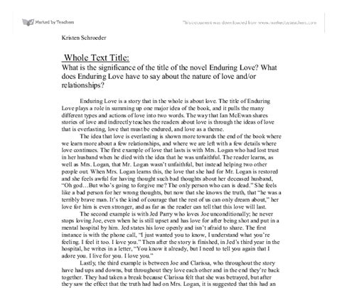 Enduring Essay by Enduring Essay