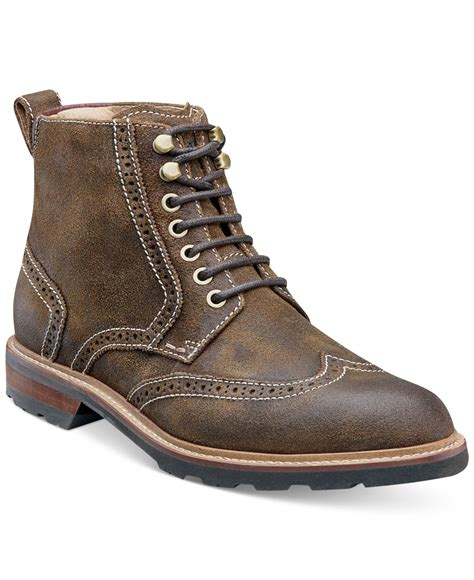 wing tip boots florsheim kilbourn wingtip boots in brown for