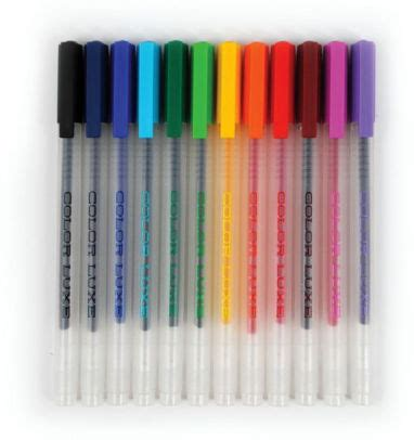 Set Of 12 Gel Pens color luxe gel pens set of 12 879426005339 item