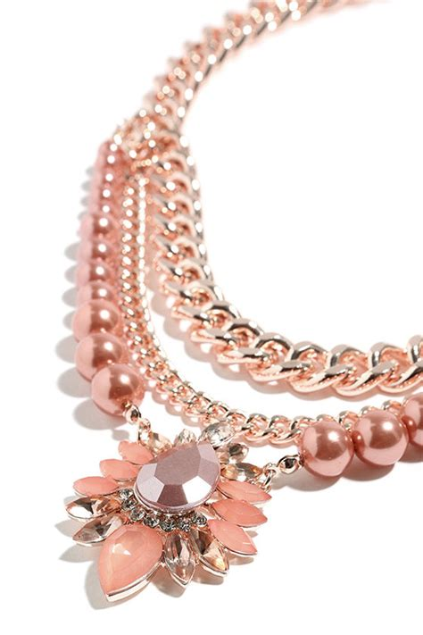 Best Seller Dress Pink Necklace Tmc beautiful gold and perl necklace pearl necklace