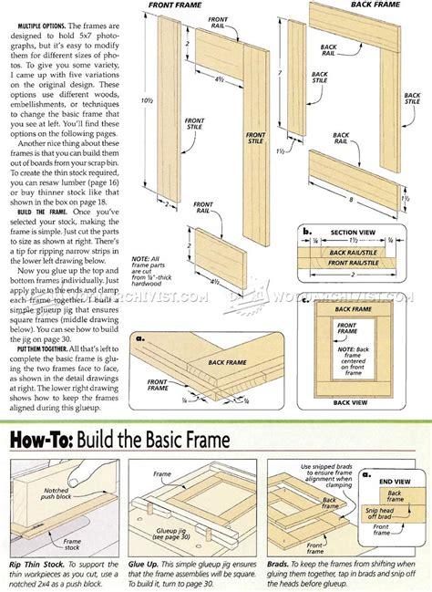 picture frame woodworking plans no miter picture frames plans woodarchivist