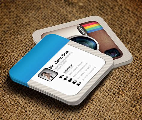 instagram card template mini square business card psd templates design graphic