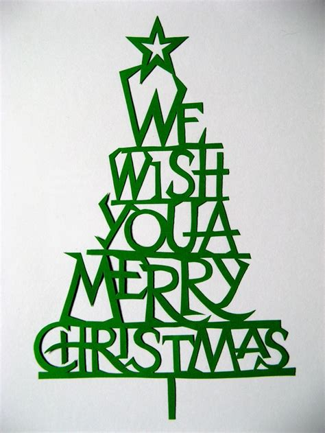 christmas cut out holidays christmas cards and tags