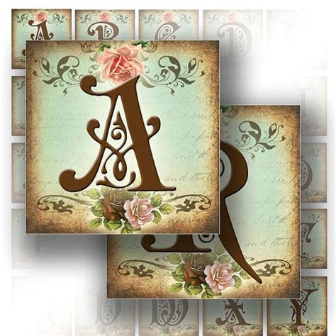 free printable victorian letters digital collage sheet victorian alphabet letters