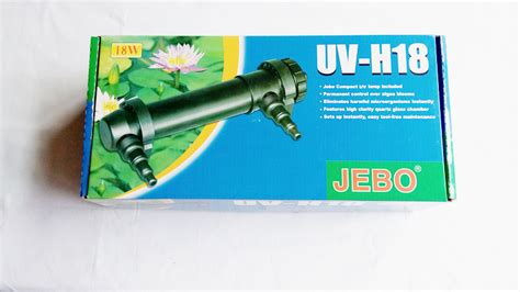 Lu Aquarium Jebo jebo 18w uv clarifier ultraviolet sterilizer aquarium 180