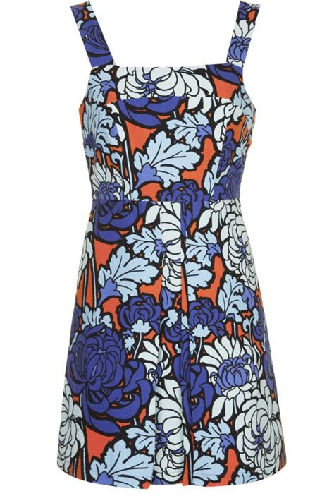 Floral Print Pinafore Dress 9 playful pinafore dresses you ll want to wear all year