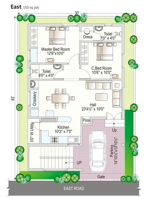 120 yard home design 120 square yards duplex house plans home deco plans