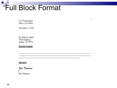 Complaint Letter Block Style Sle Business Communication Chap 2 Business Writing