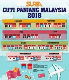 Kalendar 2018 Hari Raya Senarai Tarikh Cuti Panjang Kalendar Tahun 2018 Di