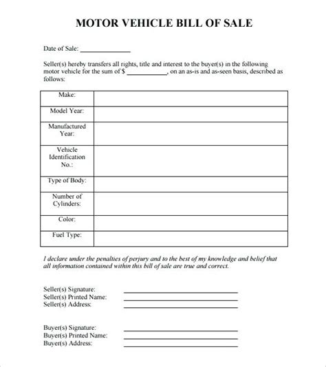 Microsoft Word Bill Of Sale Template Virtuart Me Automobile Bill Of Sale Template Pdf