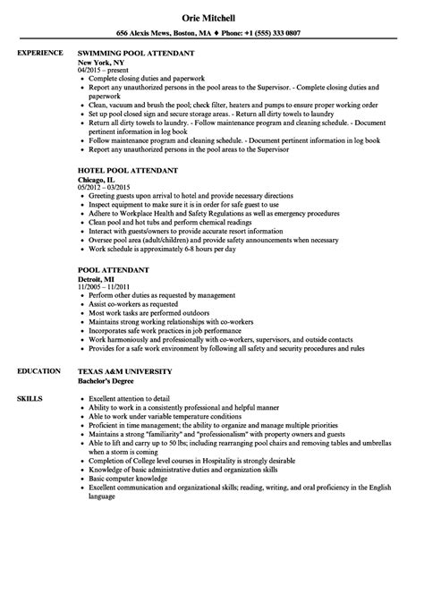 Pool Technician Cover Letter by Valet Parking Resume Sle Intake Worker Sle Resume