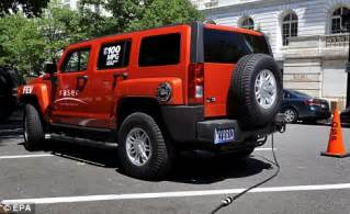 h3 hummer per gallon the gas guzzling hummer goes eco friendly with a new model