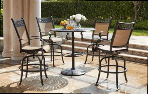 Patio Furniture Mountain View by Patio Furniture Dining Set Cast Aluminum Sling 42 Quot