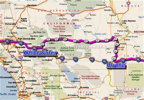 map of i 10 texas i 10 desert center california detour map info and news