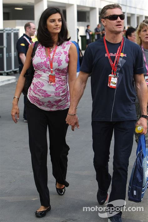 Karen Minier, Fiancée of David Coulthard with David