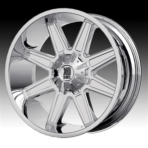 chrome xd wheels kmc xd series xd823 trap chrome custom wheels rims xd