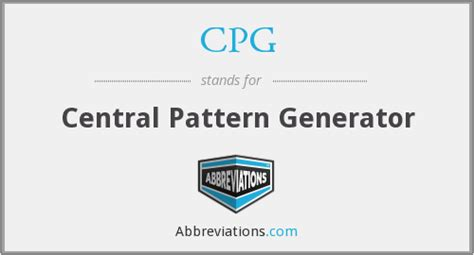 cpg pattern finder cpg central pattern generator