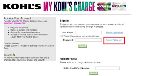make kohls credit card payment kohl s credit card login bill payment
