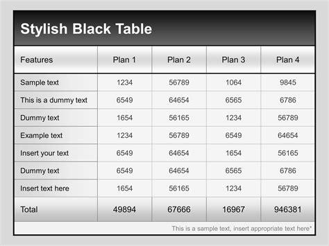 stron biz copc table f template