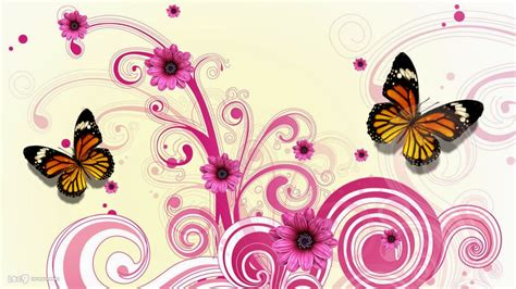 design flower and butterfly colorful butterfly designs background for desktop abstract