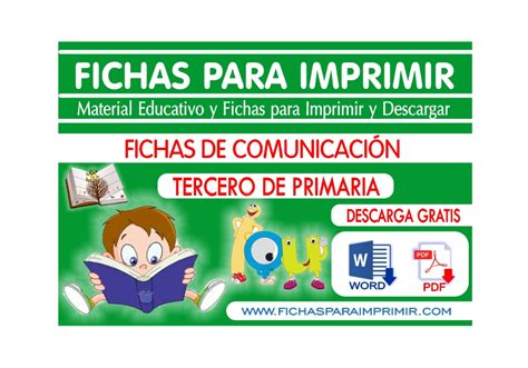 actividades para ni os de cuarto de primaria comunicaci 243 n para ni 241 os de tercero de primaria 46 fichas