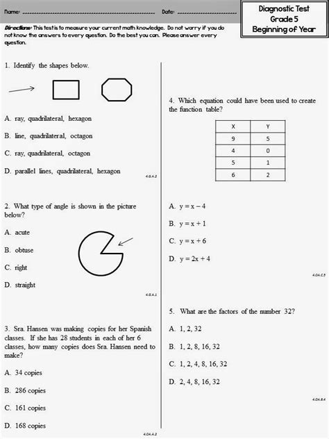Grade 2 Math Assessment Worksheet by Beginning Of The Year Math Diagnostic Teaching In Room 6