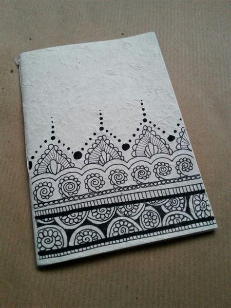 doodle notebook ideas diy notebook in rice paper zentangle design