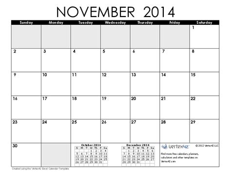 printable monthly calendar november and december 2014 november 2014 calendar printable 1 printable calendar