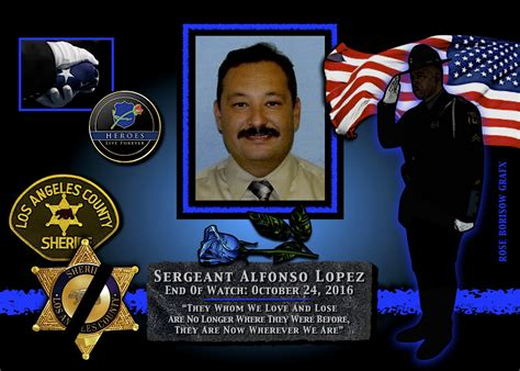 Los Angeles County Records 2016 In Memoriam Sergeant Alfonso Enforcement Today