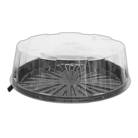 The Dome Part Two ckdm9040 9 two part cake dome with black base clear lid